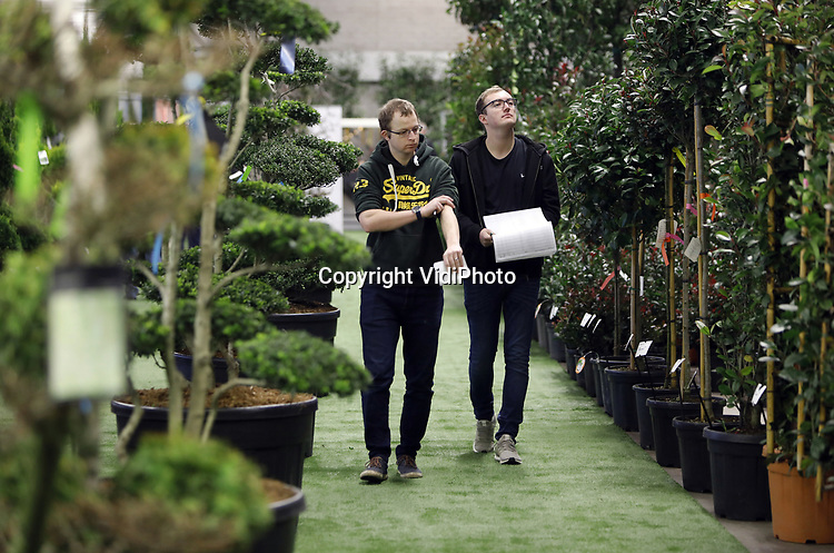 Foto: VidiPhoto<br /> <br /> WIJK EN AALBURG &ndash; Honderden vertegenwoordigers van Europese tuin- en groencentra kwamen donderdag al naar Wijk en Aalburg voor een van de grootste particuliere tuinbeurzen van ons land. Vier dagen lang staan tienduizenden bomen, struiken en planten in alle soorten, maten en vari&euml;teiten ge&euml;xposeerd bij Arie Bouman Tuinplanten waaruit klanten hun bestellingen kunnen doen voor het komende voorjaar. Populair is volgens eigenaar Dirk Bouman de eetbare tuin. Naast rozen, hortensia&rsquo;s en het nieuwe concept Endless Summer van eigen kweek, exposeert de distributeur materiaal van zo&rsquo;n 350 kwekers uit heel Europa. Bouman levert zo een totaalpakket, inclusief etikettering, aan de internationale tuincentra. De voorjaarsbeurs duurt tot en met dinsdag.