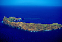 Molokini. Crescent shaped island off Maui's southwest coast, haven for sailing and snorkeling