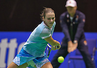 December 20, 2014, Rotterdam, Topsport Centrum, Lotto NK Tennis, Woman's semifinal,  Bibianne Weijers(NED)<br /> Photo: Tennisimages/Henk Koster