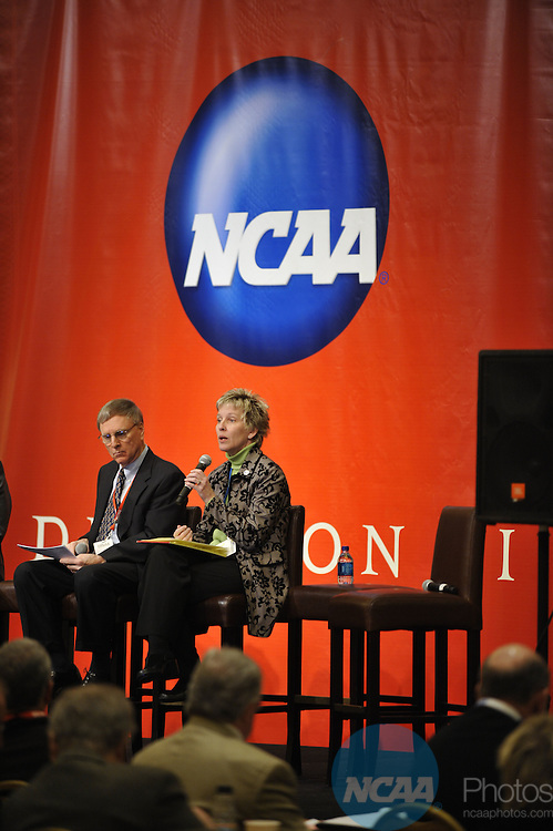 16 JAN 2009: The Division II Educational Session: How We Work Together to Enhance the Student-Athlete Experience at the 2009 NCAA Convention at the Gaylord National Resort and Convention Center in Washington D.C. Pictured: Robert Ziegenfus, Brenda Cates. Stephen Nowland/NCAA Photos