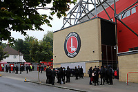 General view of Charlton FC from outside the ground looking at the back of the North Stand during Charlton Athletic vs Doncaster Rovers, Sky Bet EFL League 1 Play-Off Football at The Valley on 17th May 2019