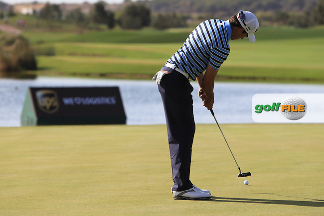 Rafael Cabrera-Bello (ESP) putts on the 17th green during Thursday's Round 1 of the Portugal Masters at the Oceanico Victoria Golf Course, Vilamoura, Portugal 10th October 2012 (Photo Eoin Clarke/www.golffile.ie)