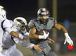 Torrance, CA 09/25/15 - Jeremiah Aiono (Torrance #28) in action during the El Segundo - Torrance varsity football game at Zamperini Field of Torrance High School