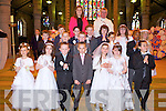 Pic no.4018-4023.The pupils of Ms Louise McMahon's class from CBS Clounalour, Tralee who made their First Holy Communion at John's Church, Tralee on Saturday pictured Ms Louise McMahon, Fr Sean Hanafin,  Depta Wiktona, Kania Wiktona, Kornelia Lemanska, Amelia Mol, Tayla-Jae Morcombe, Lauran O'Connor, Samantha Vathay, John Adedeji, Zac Boyle, Ciaran Breen, Evan Brosnan, Cian Callaghan, Gearoid Costello, Sean Healy, Denis Kacprzak, Pawel Kowalski, Tomas Norkus and Joathan O'Brien..