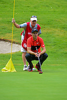 Ross Fisher (ENG) and his caddie read their putt on 6 during round 2 of the World Golf Championships, Mexico, Club De Golf Chapultepec, Mexico City, Mexico. 3/3/2017.<br /> Picture: Golffile | Ken Murray<br /> <br /> <br /> All photo usage must carry mandatory copyright credit (&copy; Golffile | Ken Murray)
