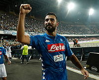 Raul Albiol  during the  italian serie a soccer match,  SSC Napoli - Milan      at  the San  Paolo   stadium in Naples  Italy , August 25, 2018