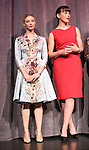 Sarah Gadon and Olivia Williams during the Presentation for 'Maps To The Stars' at the Roy Thomson Hall during the 2014 Toronto International Film Festival on September 9, 2014 in Toronto, Canada.
