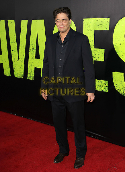 Benicio Del Toro.The World Premiere of 'Savages' held at The Grauman's Chinese Theatre in Hollywood, California, USA..June 25th, 2012.full length black suit shirt.CAP/ADM/KB.©Kevan Brooks/AdMedia/Capital Pictures.