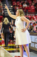 College Park, MD - March 25, 2019: UCLA Bruins head coach Cori Close calls a play during game between UCLA and Maryland at  Xfinity Center in College Park, MD.  (Photo by Elliott Brown/Media Images International)