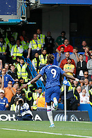 GOAL - Tammy Abraham of Chelsea celebrates during the Premier League match between Chelsea and Sheff United at Stamford Bridge, London, England on 31 August 2019. Photo by Carlton Myrie / PRiME Media Images.