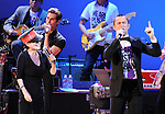 Yoko Ono,Perry FARRELL and Joseph Gordon-Levitt performs with We are Plastic Ono Band on night 2 at The Orpheum Theatre in Downtown Los Angeles, California on October 02,2010                                                                   Copyright 2010  Debbie VanStory / RockinExposures