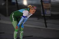 SCHAATSEN: DEVENTER: IJsbaan De Scheg, 16-10-2016, Holland Cup, Bo van der Werff, baanrecord 1000m, ©foto Martin de Jong