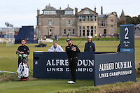 Shane Lowry (IRL) on the 2nd tee during the practice round before the 2014 Alfred Dunhill Links Championship, The Old Course, St Andrews, Fife, Scotland. Picture:  David Lloyd / www.golffile.ie