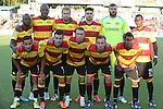 20 April 2013: Fort Lauderdale's starters. Front row (l to r): Ivan Guerrero (HON), Carlos Salazar (COL), David Foley (ENG), Mark Anderson (ENG), Pecka (BRA). Back row (l to r): Jemal Johnson (ENG), Shavar Thomas (JAM), Toni Stahl (FIN), Stefan Dimitrov (BUL), Matt Glaeser, Darnell King. The Carolina RailHawks played the Fort Lauderdale Strikers at WakeMed Stadium in Cary, North Carolina in a North American Soccer League Spring 2013 Season regular season game.