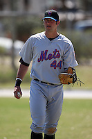 March 19, 2010:  Right Fielder Jeff Flagg of the New York Mets organization during Spring Training at the Roger Dean Stadium Complex in Jupiter, FL.  Photo By Mike Janes/Four Seam Images