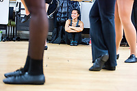 Rebecca McCune, a junior studying Neuroscience and Behavior at Simmons College, waits for her turn during Jazz Performance class at the Holmes Athletic Center at Simmons College, one of the Colleges of the Fenway, in Boston, Massachusetts, USA, on Mon., March 13, 2017. The students were preparing for their Spring Showcase performance in April.