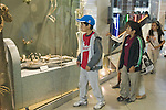 Berkeley CA Second grade students visiting UC Berkeley Paleontology Museum on school field trip