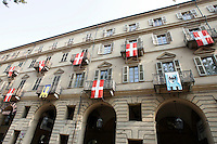 Uno scorcio di Piazza Vittorio Alfieri, ad Asti.<br /> A view of Piazza Vittorio Alfieri in Asti.<br /> UPDATE IMAGES PRESS/Riccardo De Luca