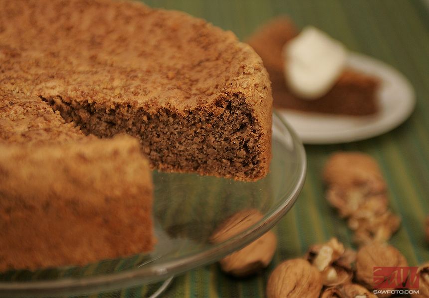 Walnut Cake. Photographed in the Times studio September 18, 2007.