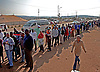 Attridgeville, Pretoria, South Africa: 07.05.2014: SOUTH AFRICAN GENERAL ELECTIONS<br /> Residents of Attridgeville queues in the early hours of the morning to cast their votes at Mahlogonolo Ledwaba Centre, during the 5th General Elections in South Africa since the end of Apartheid Rule.<br /> Mandatory Credit Photo: &copy;GCIS/NEWSPIX INTERNATIONAL<br /> <br /> **ALL FEES PAYABLE TO: &quot;NEWSPIX INTERNATIONAL&quot;**<br /> <br /> IMMEDIATE CONFIRMATION OF USAGE REQUIRED:<br /> Newspix International, 31 Chinnery Hill, Bishop's Stortford, ENGLAND CM23 3PS<br /> Tel:+441279 324672  ; Fax: +441279656877<br /> Mobile:  07775681153<br /> e-mail: info@newspixinternational.co.uk