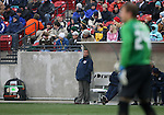Bruce Arena (center), head coach of the United States, watches his goalkeeper Brad Guzan (24), during the first half on Sunday, February 19th, 2005 at Pizza Hut Park in Frisco, Texas. The United States Men's National Team defeated Guatemala 4-0 in a men's international friendly.