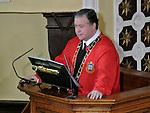 Mayor of Drogheda Paul Bell at the remembrance service at St Peter's Church of Ireland. Photo:Colin Bell/pressphotos.ie