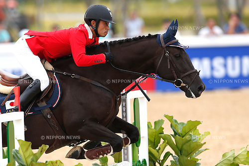 Ryuzo Kitajima (JPN), <br /> SEPTEMBER 26, 2014 - Equestrian : <br /> Eventing Individual Jumping <br /> at Dream Park Equestrian Venue <br /> during the 2014 Incheon Asian Games in Incheon, South Korea. <br /> (Photo by AFLO SPORT)