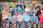 Twenty 1.--------.Shane Nammock,Marian Pk,Tralee(seated centre)had a cracker celebrating his 21st birthday last Saturday night in Dowdie's bar,Boherbue,Tralee with many friends and family..
