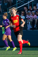 Rochester, NY - Saturday June 11, 2016: Western New York Flash midfielder Samantha Mewis (5) during a regular season National Women's Soccer League (NWSL) match between the Western New York Flash and the Orlando Pride at Rochester Rhinos Stadium.