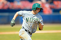 North Dakota State Bison first baseman Wes Satzinger (31) during a game against the Bowling Green Falcons at Chain of Lakes Stadium on March 9, 2013 in Winter Haven, Florida.  NDSU defeated Bowling Green 8-5.  (Mike Janes/Four Seam Images)