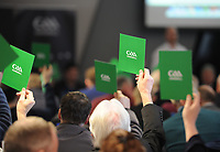 04/02/2018; GAA Handball Annual Congress 2018; Croke Park, Dublin;<br /> General view as delegates pass motion #1 on entrants who have withdrawn from a competition re-appearing as replacements at a later stage in the same competition.. <br /> Photo Credit: actionshots.ie/Tommy Grealy