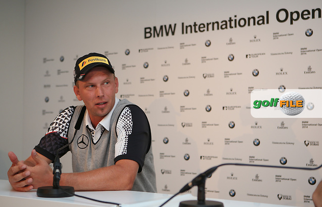 Marcel Siem (GER) during the Media Interviews ahead of the BMW International Open 2014 from Golf Club Gut Lärchenhof, Pulheim, Köln, Germany. Picture:  David Lloyd / www.golffile.ie