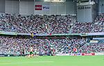 Stockholm 2014-07-20 Fotboll Superettan Hammarby IF - &Ouml;sters IF :  <br /> Vy &ouml;ver Tele2 Arena under matchen med Hammarbys supporter p&aring; l&auml;ktarna<br /> (Foto: Kenta J&ouml;nsson) Nyckelord:  Superettan Tele2 Arena Hammarby HIF Bajen &Ouml;ster &Ouml;IF inomhus interi&ouml;r interior supporter fans publik supporters
