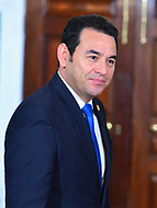Washington, DC - February 8, 2018: Guatemalan President Jimmy Morales meets with U.S. Secretary of State Rex Tillerson at the Department of State in Washington, D.C., February 8, 2018.  (Photo by Don Baxter/Media Images International)