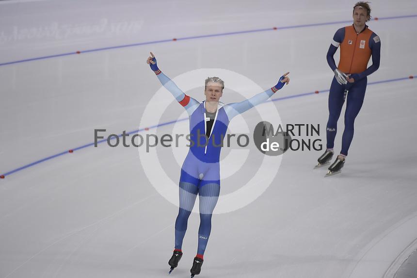 OLYMPIC GAMES: PYEONGCHANG: 19-02-2018, Gangneung Oval, Long Track, 500m Men, Havard Lorentzen (NOR), ©photo Martin de Jong