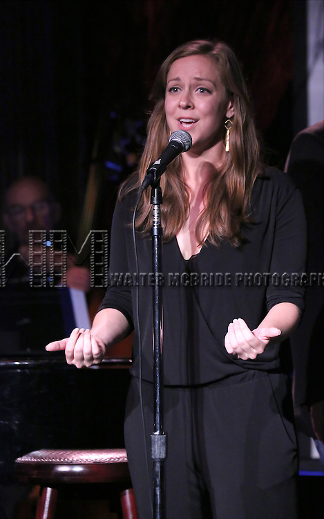 Rachel Flynn performing at The Lilly Awards Broadway Cabaret at the Cutting Room on October 17, 2016 in New York City.