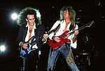 Adrian Vandenberg and Vivian Cambell  of Whitesnake performs at Madison Square Garden in New York US