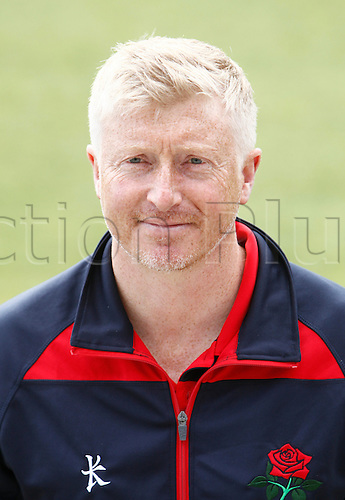 08.04.2016. Old Trafford, Manchester, England. Lancashire County Cricket Press Call. Lancashire CCC 1st XI coach, Glen Chapple.