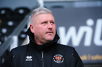 Blackpool's manager Terry McPhillips prior to the game<br /> <br /> Photographer Chris Vaughan/CameraSport<br /> <br /> The EFL Sky Bet League One - Burton Albion v Blackpool - Saturday 16th March 2019 - Pirelli Stadium - Burton upon Trent<br /> <br /> World Copyright &copy; 2019 CameraSport. All rights reserved. 43 Linden Ave. Countesthorpe. Leicester. England. LE8 5PG - Tel: +44 (0) 116 277 4147 - admin@camerasport.com - www.camerasport.com