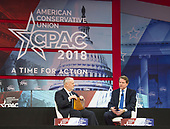 Don McGahn, White House Counsel and Assistant to the President, is interviewed by Dr. Larry Arnn of Hillsdale College at the Conservative Political Action Conference (CPAC) at the Gaylord National Resort and Convention Center in National Harbor, Maryland on Thursday, February 22, 2018.<br /> Credit: Ron Sachs / CNP