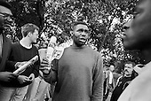 Heckler.  Speakers' Corner, Hyde Park, London.