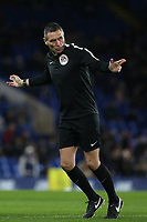 Match Referee, Andre Marriner, warms up ahead of kick-off during Chelsea vs Hull City, Emirates FA Cup Football at Stamford Bridge on 16th February 2018