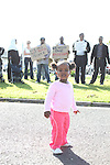 Asylum Seekers protest at mosney against relocation to other hostels in Dublin...Picture Jenny Matthews/Newsfile.ie