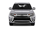 Car photography straight front view of a 2020 Mitsubishi Outlander-PHEV Intense 5 Door SUV Front View