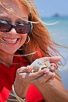 Mareesa DeAngelis on Naples beach. Photo by Debi Pittman Wilkey