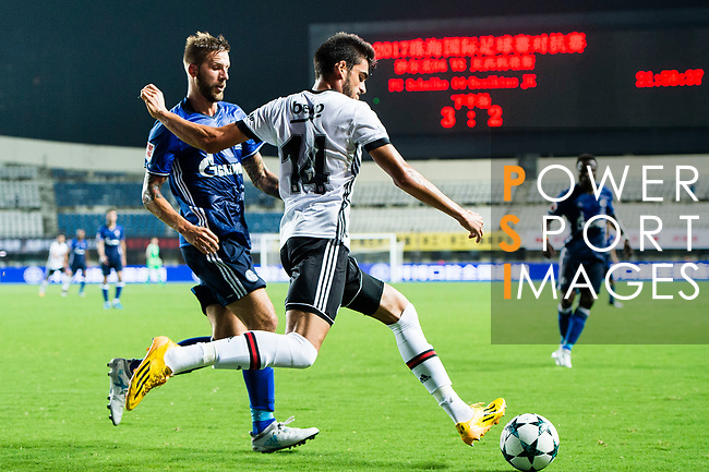 Besiktas Istambul Defender Fatih Aksoy (R) plays against FC Schalke Forward Guido Burgstaller (L) during the Friendly Football Matches Summer 2017 between FC Schalke 04 Vs Besiktas Istanbul at Zhuhai Sport Center Stadium on July 19, 2017 in Zhuhai, China. Photo by Marcio Rodrigo Machado / Power Sport Images