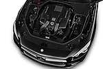 Car Stock 2017 Mercedes Benz SL-Class AMG-63 2 Door Convertible Engine  high angle detail view