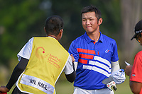 Yung-Hua LIU (TPE) shakes hands following Rd 1 of the Asia-Pacific Amateur Championship, Sentosa Golf Club, Singapore. 10/4/2018.<br /> Picture: Golffile | Ken Murray<br /> <br /> <br /> All photo usage must carry mandatory copyright credit (&copy; Golffile | Ken Murray)