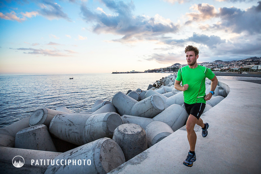 Running along the ocean waterfront of Funchal, Madeira Island's capitol city