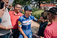 Julian Alaphilippe (FRA/Quick-Step Floors) with friends before the stage start<br /> <br /> Stage 7: Fougères > Chartres (231km)<br /> <br /> 105th Tour de France 2018<br /> ©kramon
